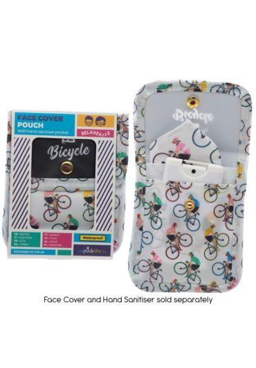 Mini Pouch pentru accesorii - Cycle Works Cycling Bicycle Design Face Covering & Hand Sanitiser