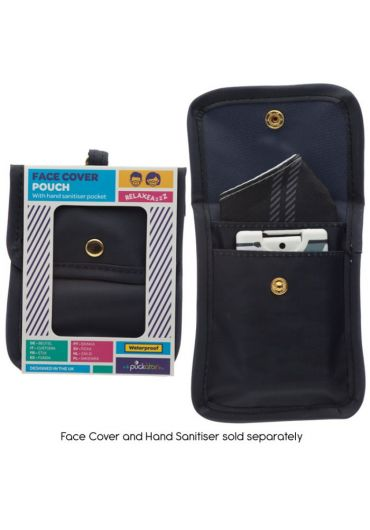 Mini Pouch pentru accesorii - Black Face Covering & Hand Sanitiser