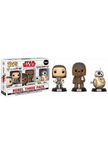 Set 3 Figurine Funko! Star Wars Episode VIII - Rebel