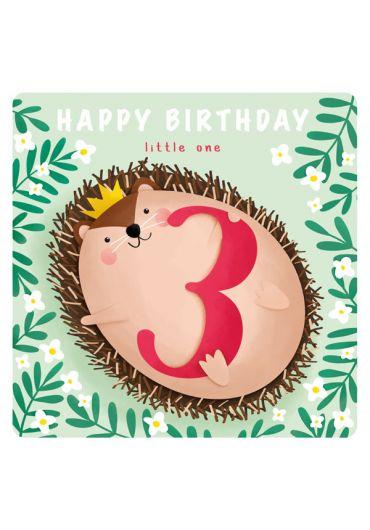 Felicitare - Happy Birthday Little One - 3 Years