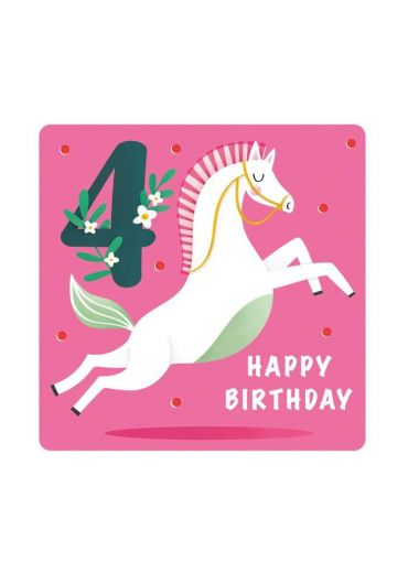 Felicitare - Happy Birthday Horse - 4 Years