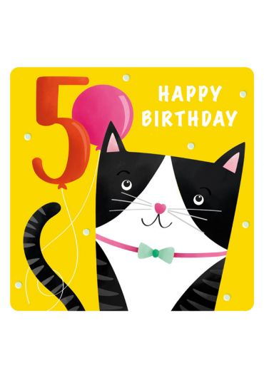 Felicitare - Happy Birthday Cat - 5 Years
