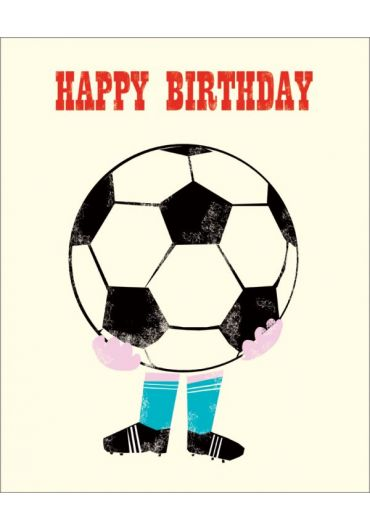 Felicitare - Happy Birthday - Soccer Ball