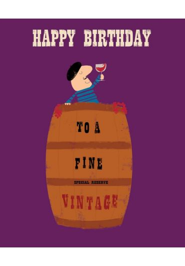 Felicitare - Happy Birthday - To a fine Vintage