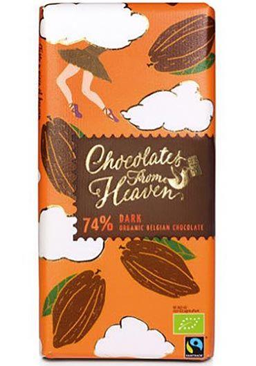 Tableta de ciocolata neagra 74%