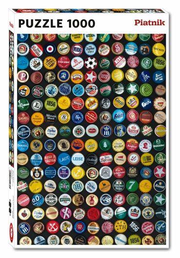 Puzzle 1000 piese Capace de sticle cu bere