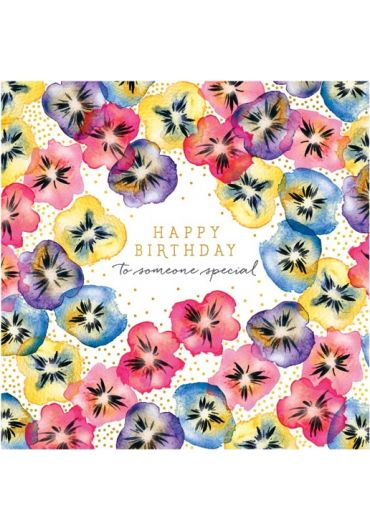 Felicitare - Happy Birthday to somneone special - Pansies