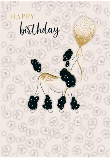 Felicitare - Happy Birthday - Poodle