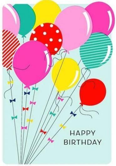 Felicitare - Happy Birthday - Balloons