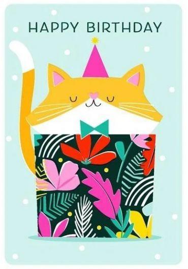 Felicitare - Happy Birthday - Cat