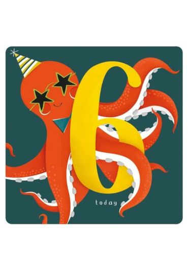 Felicitare - Happy Birthday Today - Octopus - 6 Years