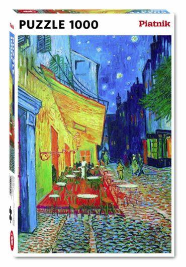 Puzzle 1000 piese Terasa de cafenea seara - Vincent van Gogh