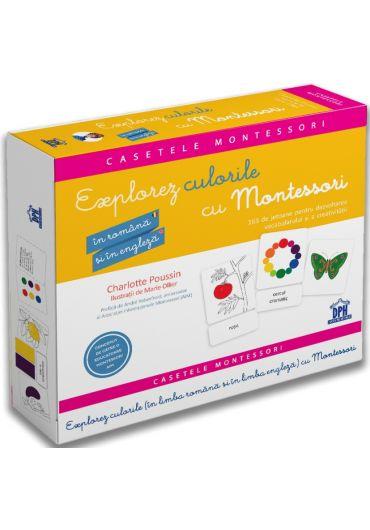 Explorez culorile cu Montessori in romana si engleza. 163 de jetoane