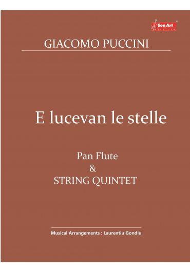 E lucevan le stelle. Pan Flute & String Quintet. Partituri