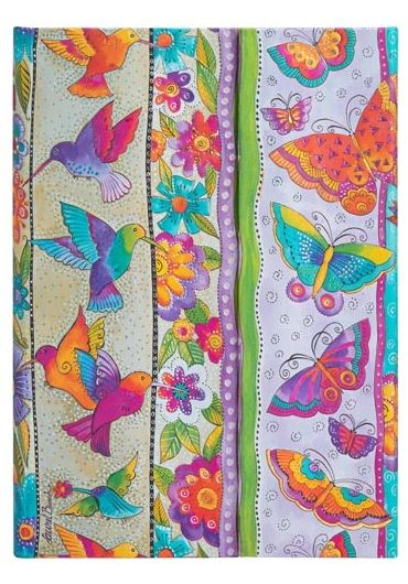 Jurnal - Midi, Lined, Wrap - Hummingbirds and Flutterbyes