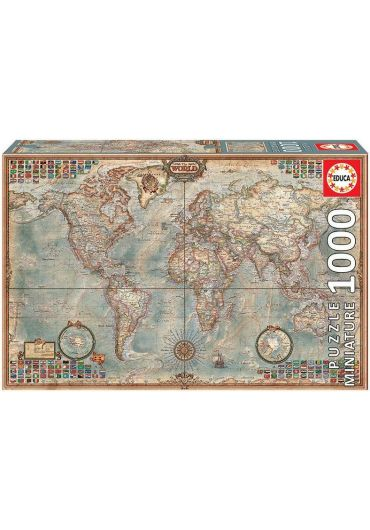 Puzzle 1000 piese Miniature Political Map of the World