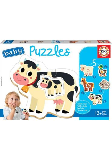 Puzzle 5 in 1 (2+3+4+3+2 piese) Baby The Farm