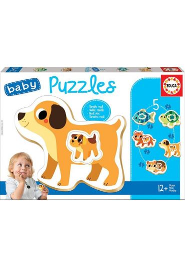 Puzzle 5 in 1 (4+2+3+2+3 piese) Baby Pets