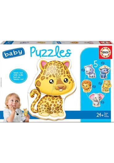 Puzzle 5 in 1 (3+4+5+4+3 piese) Baby Wild Animals