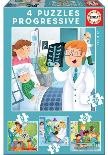 Puzzle Progressive 4 in 1 (12+16+20+25 piese) I Want to Be