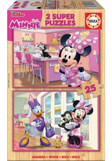 Puzzle 2 in 1 (25+25 piese) Minnie Happy Helpers