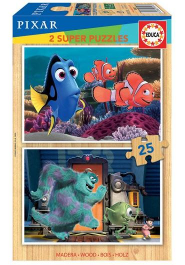 Puzzle 2 in 1 (25+25 piese) Finding Nemo & Monsters