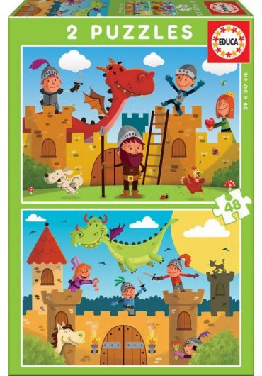 Puzzle 2 in 1 (48+48 piese) Dragons and Knights