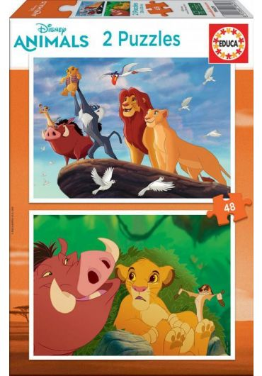 Puzzle 2 in 1 (48+48 piese) The Lion King