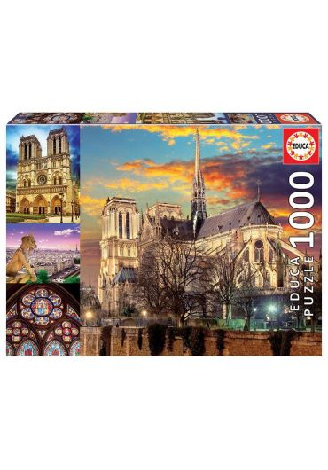 Puzzle 1000 piese Notre Dame Collage