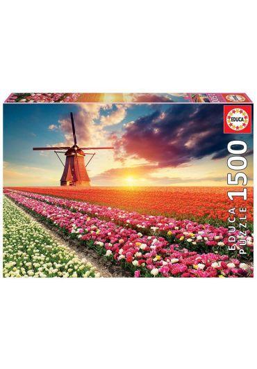 Puzzle 1500 piese Tulips Landscape