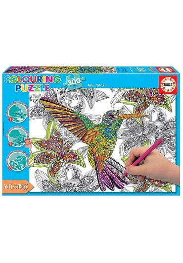 Puzzle 300 piese Colouring Hummingbird