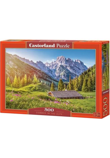 Puzzle 500 piese Summer in the Alps
