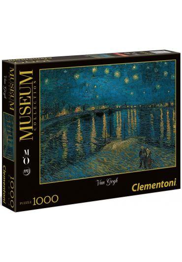 Puzzle 1000 piese Van Gogh - Notte stellata sul Rodano