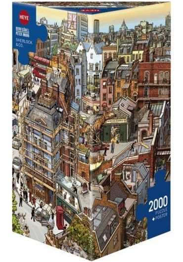 Puzzle 2000 piese Sherlock & Co.