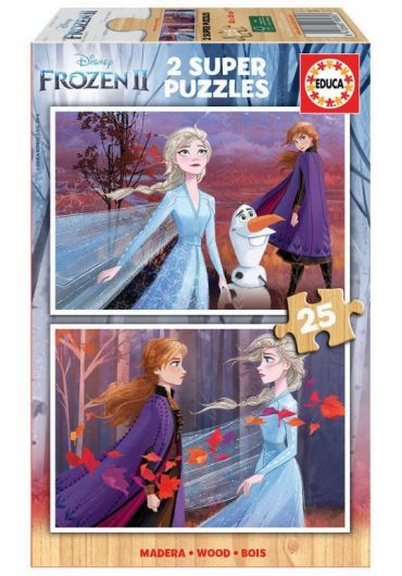 Puzzle 2 in 1 (25+25 piese) Frozen 2