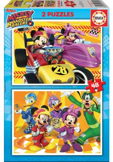 Puzzle 2 in 1 (48+48 piese) Mickey & the Roadster Racer