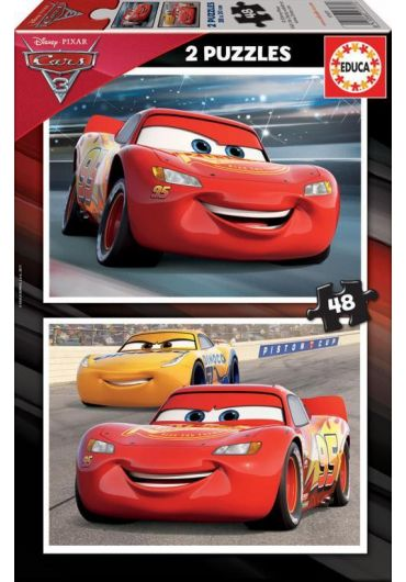 Puzzle 2 in 1 (48+48 piese) Cars 3