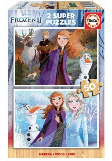 Puzzle 2 in 1 (50+50 piese) Frozen 2