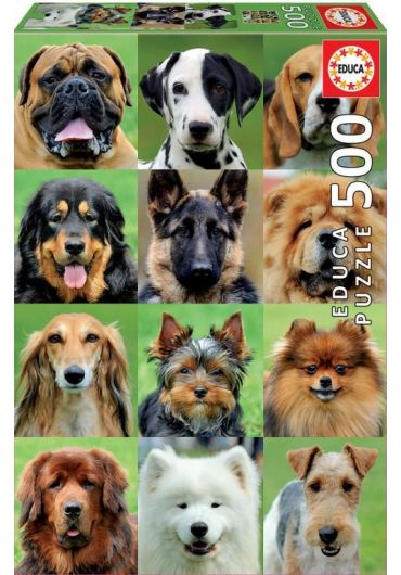 Puzzle 500 piese Dogs Collage