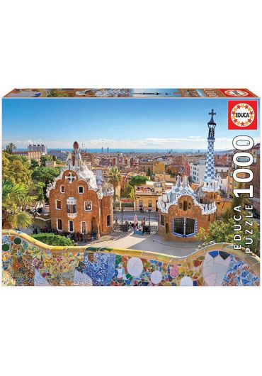 Puzzle 1000 piese Barcelona - View from Park Guell