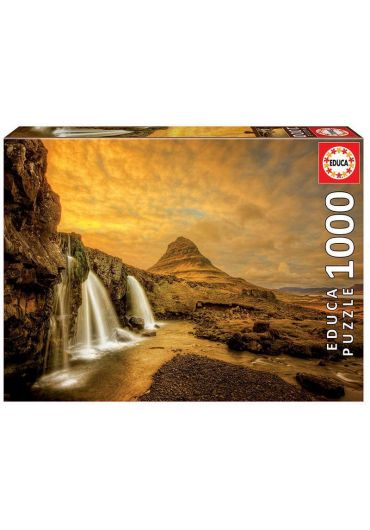 Puzzle 1000 piese Kirkjufellsfoss Waterfall, Iceland