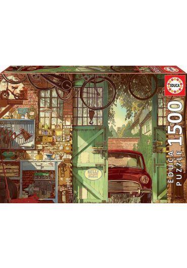 Puzzle 1500 piese Old Garage, Arly Jones