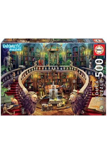 Puzzle 500 piese Enigmatic Antique Library