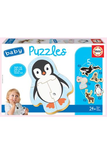 Puzzle 5 in 1 (3+3+4+4+5 piese) Baby Polar Animals