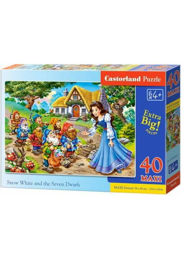 Puzzle 40 piese Maxi Snow White and the Seven Dwarfs