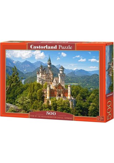 Puzzle 500 piese View of the Neuschwanstein Castle, Germany