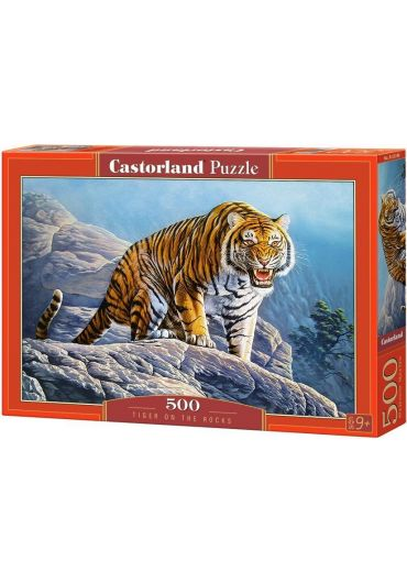 Puzzle 500 piese Tiger on the Rocks