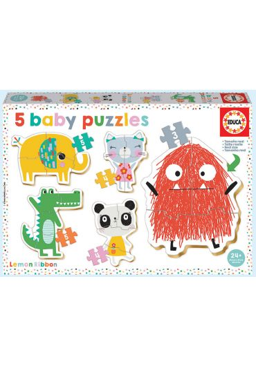 Puzzle 5 in 1 (5+4+3+4+5 piese) Baby Lemon Ribbon