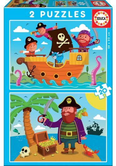 Puzzle 2 in 1 (20+20 piese) Pirates