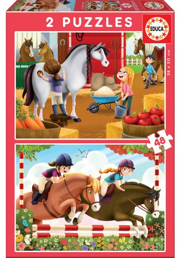 Puzzle 2 in 1 (48+48 piese) Horses